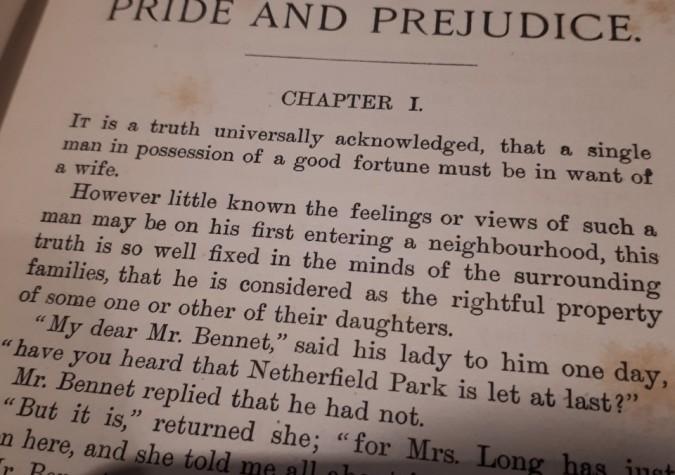 pride and prejudice reflection