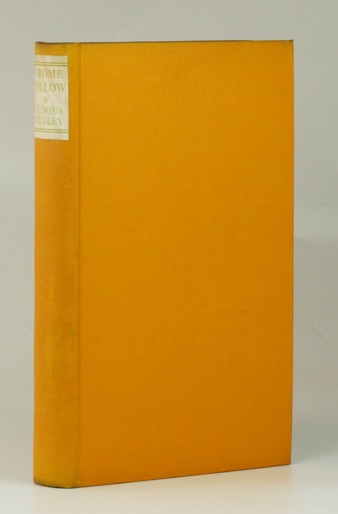 review of crome yellow by aldous Click to read more about editions: crome yellow by aldous huxley librarything is a cataloging and social networking site for booklovers.