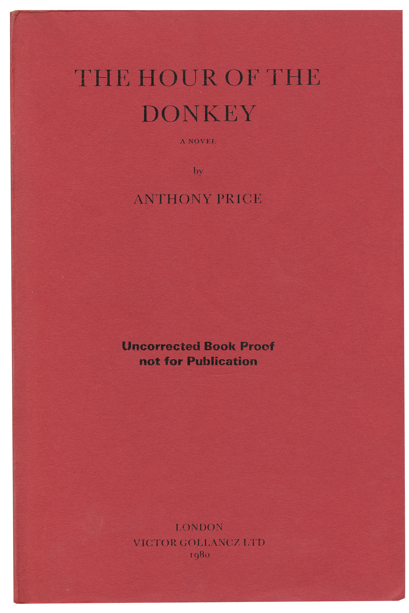 The Hour of the Donkey - ,