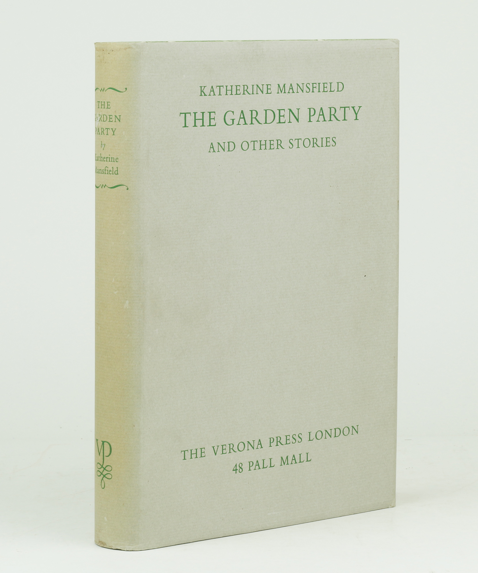 The garden party by mansfield katherine jonkers rare books - The garden party katherine mansfield ...