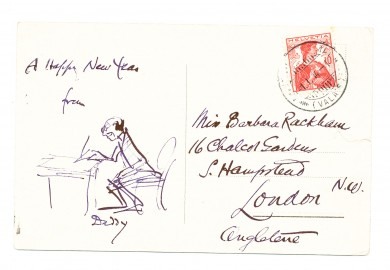 Postcard From Rackham to His Daughter - ,