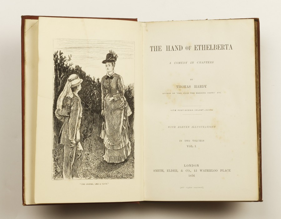 The Hand Of Ethelberta By Hardy Thomas Jonkers Rare Books