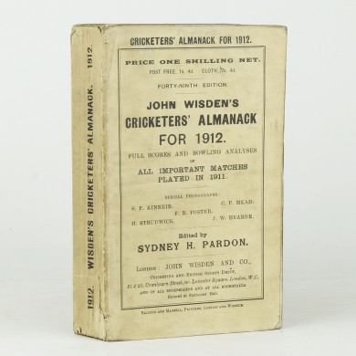 John Wisden's Cricketers' Almanack for 1912 - ,