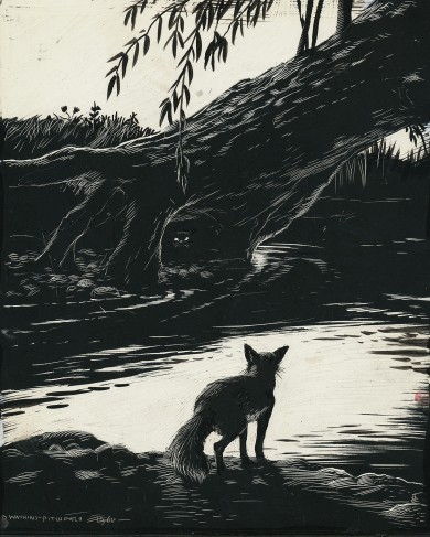 Signed Original Drawing: Vix - the Story of a Fox Cub - ,