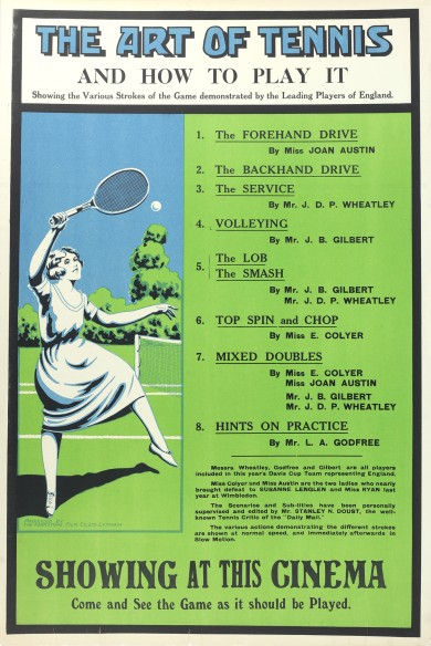 Original Vintage Poster: The Art of Tennis - ,