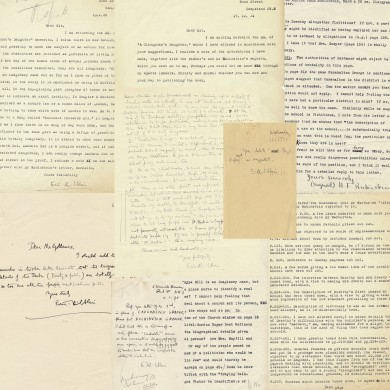 Publisher's Archive of Correspondence Relating to a Clergyman's Daughter - ,